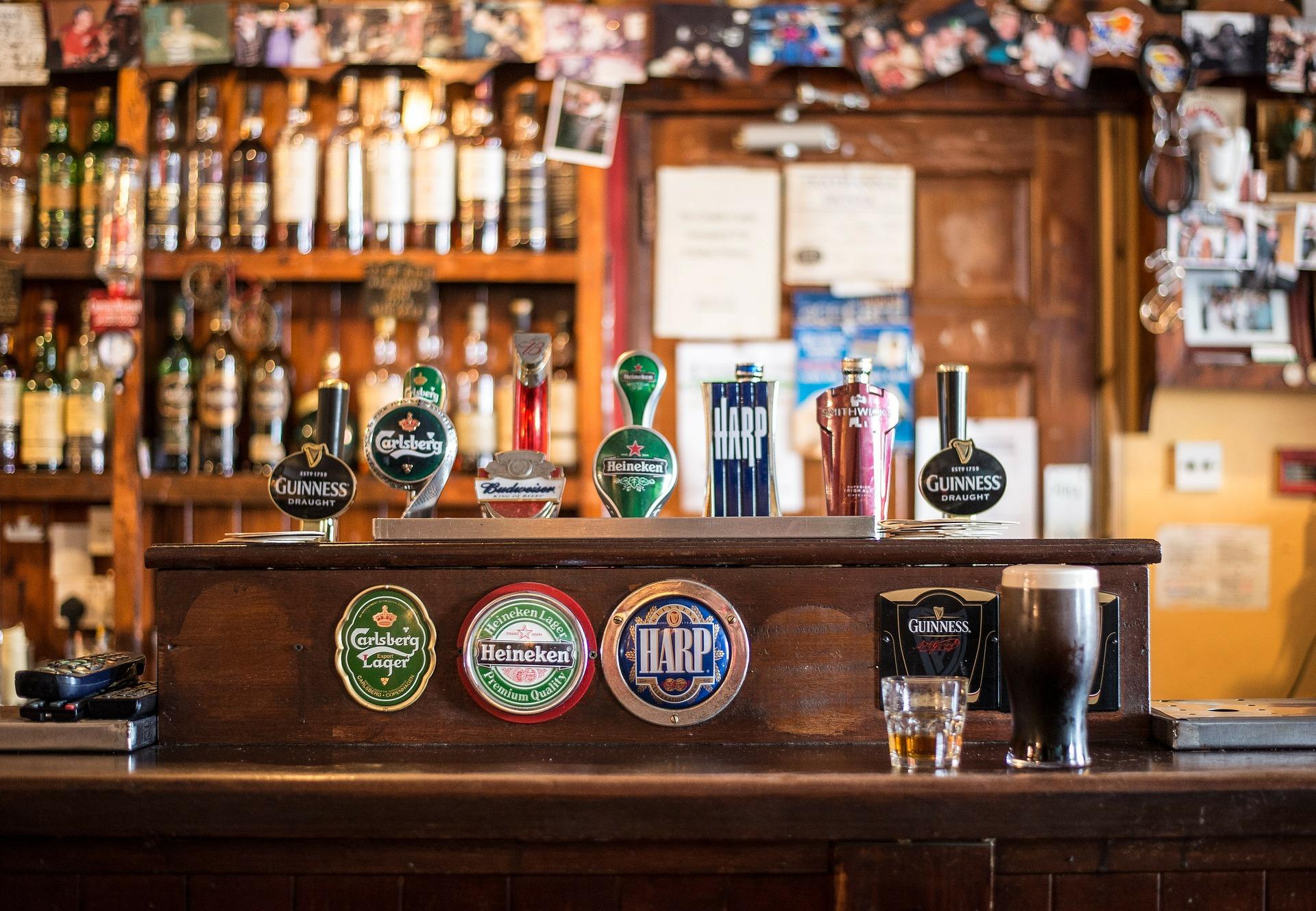 Eine Zapfanlage mit mehreren Biersorten