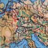 Aufnahme einer Weltkarte mit Fokus auf Deutschland