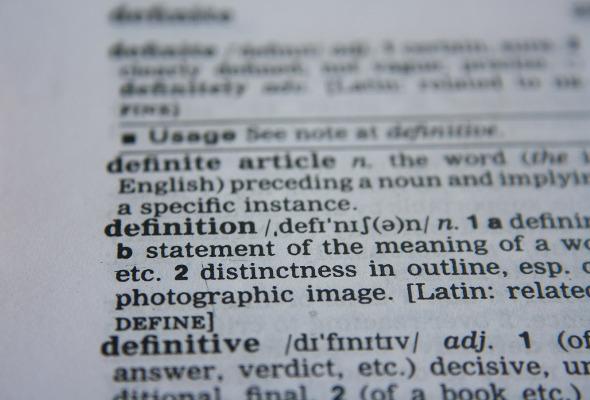 Lexikon-Ausschnitt-Definition