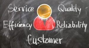 Kunde Service Effizienz Qualität Verlässlichkeit